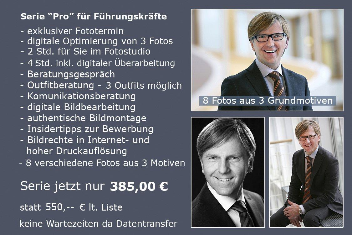 Preisliste Bewerbungsfotos für Führungskräfte