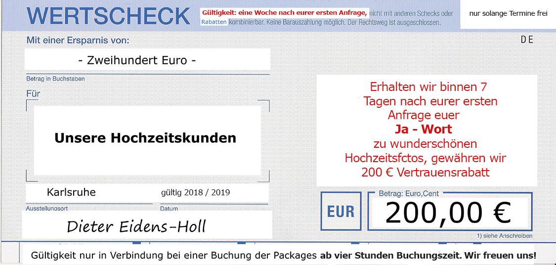 Sonderangebot für Hochzeitsfotos in Karlsruhe