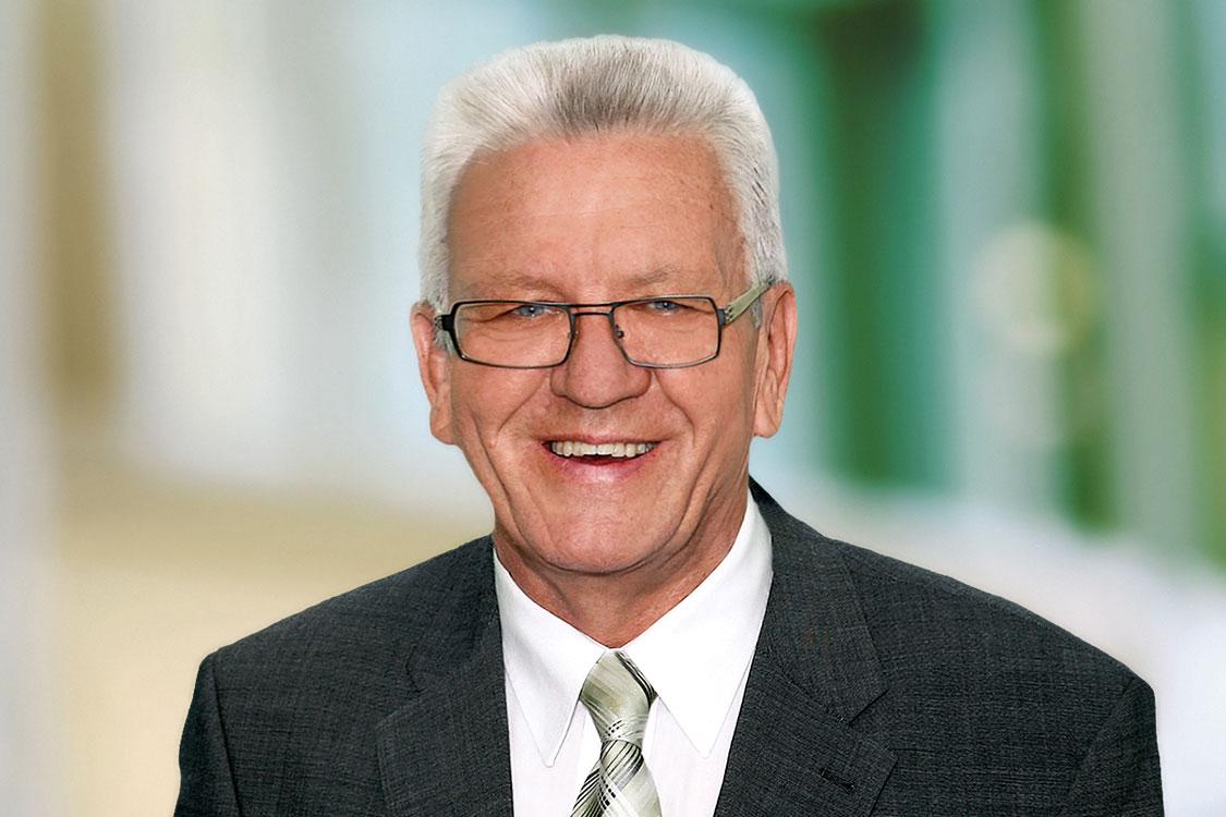 Der Minsisterpräsident in Stuttgart