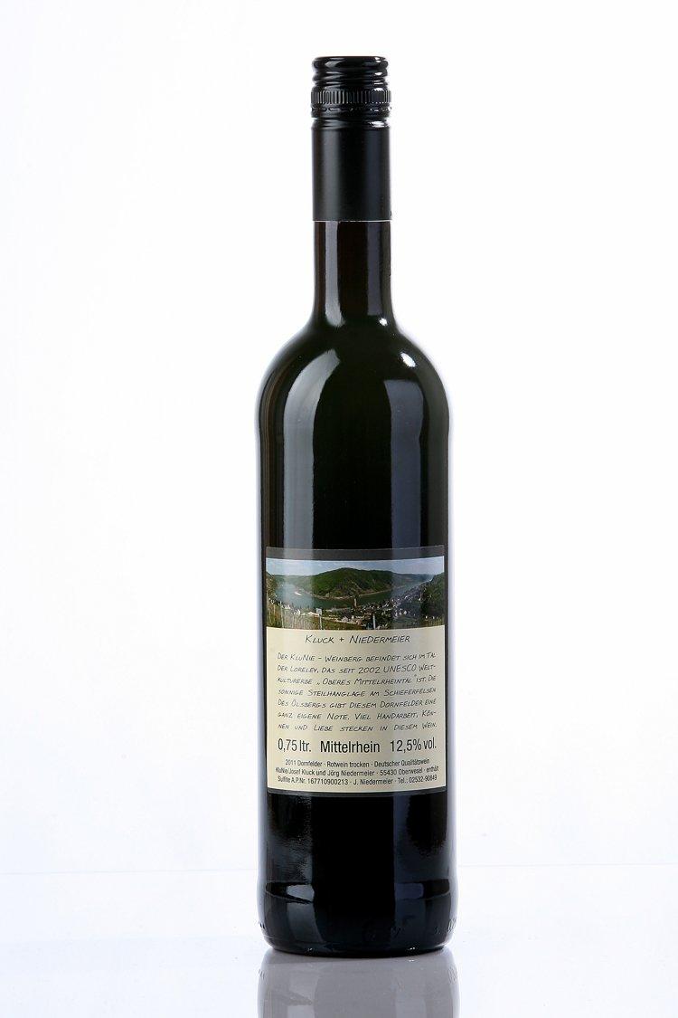 Weinflasche Rückseite