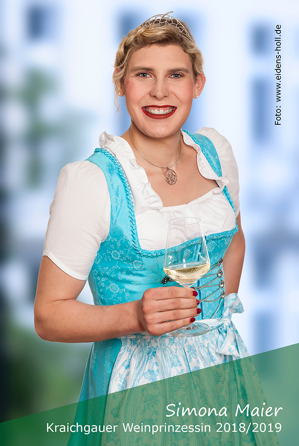 Simona Maier die aktuelle Kraichgauer Weinprinzessin für das Jahr 2018/2019