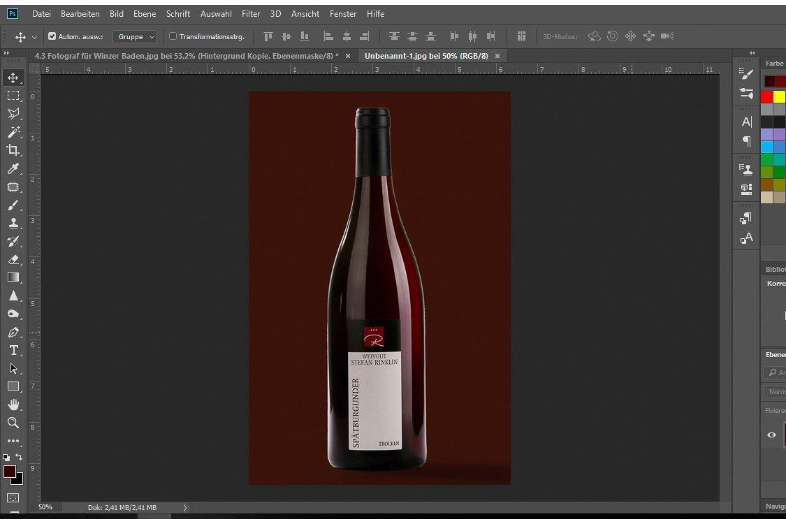 Werbefotos Weine Baden