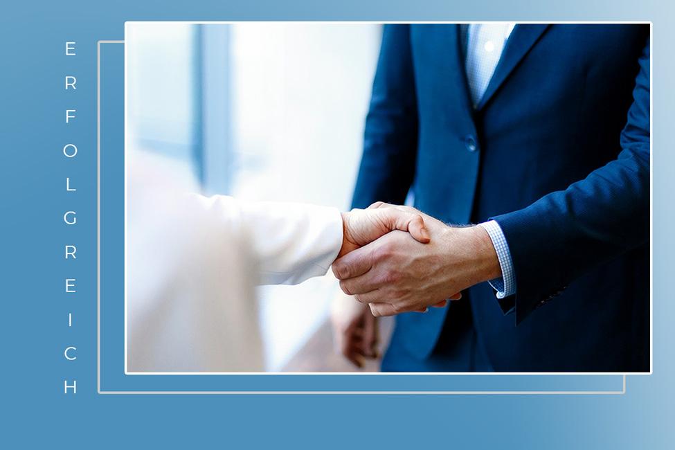 Es wird ein erfolgreiches Business Meeting symbolisiert