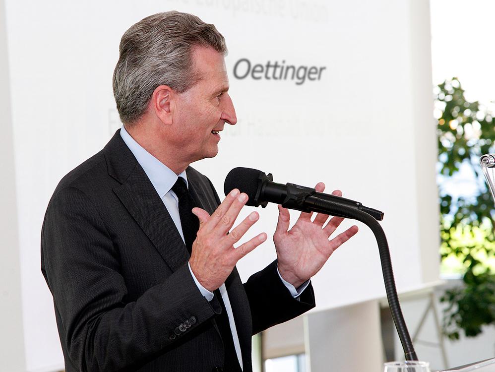 Fotografie von Herrn Oettinger