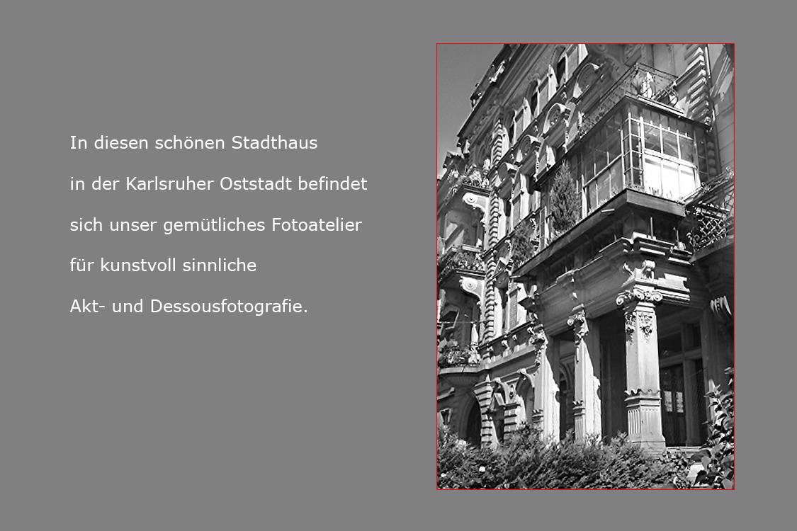 Außenfoto Fotostudio für Aktfotos Karlsruhe