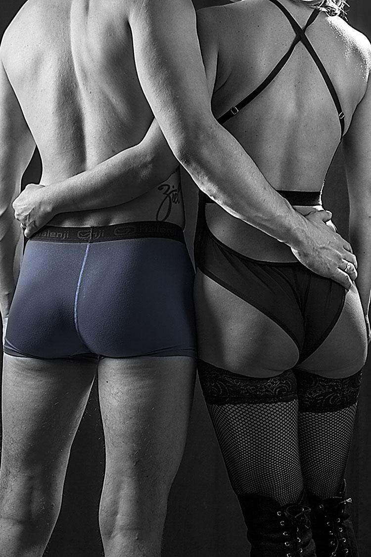 Paar Rücken