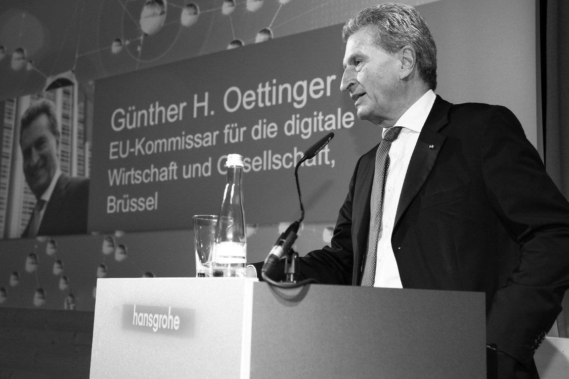 Pressefoto des EU-Kommissars für Haushalt und Personal, Günther H. Oettinger.