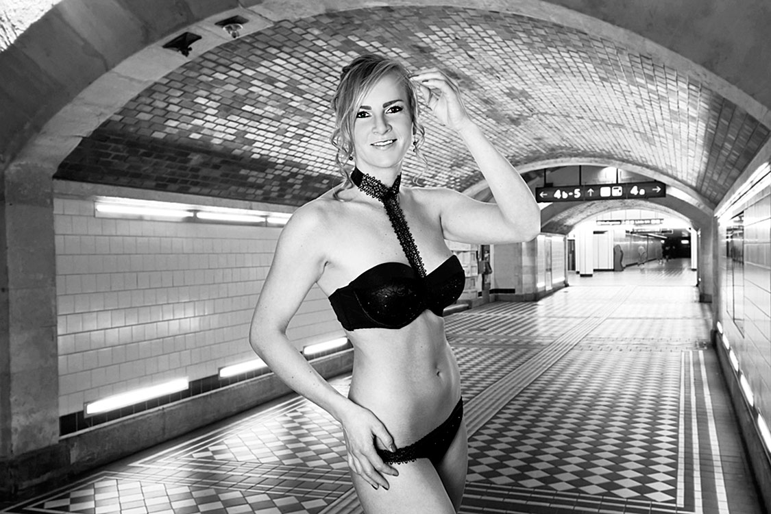 Foto in der U-Bahn Unterführung