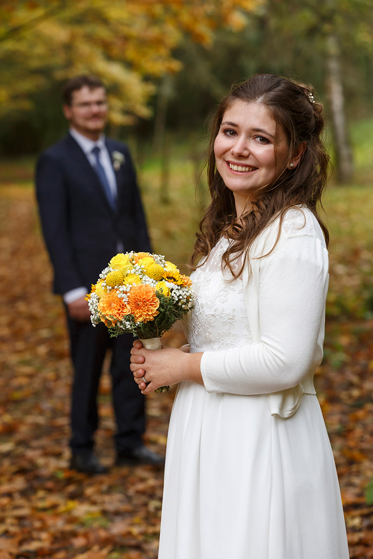 Hochzeitsfoto bei Bingen im Wald