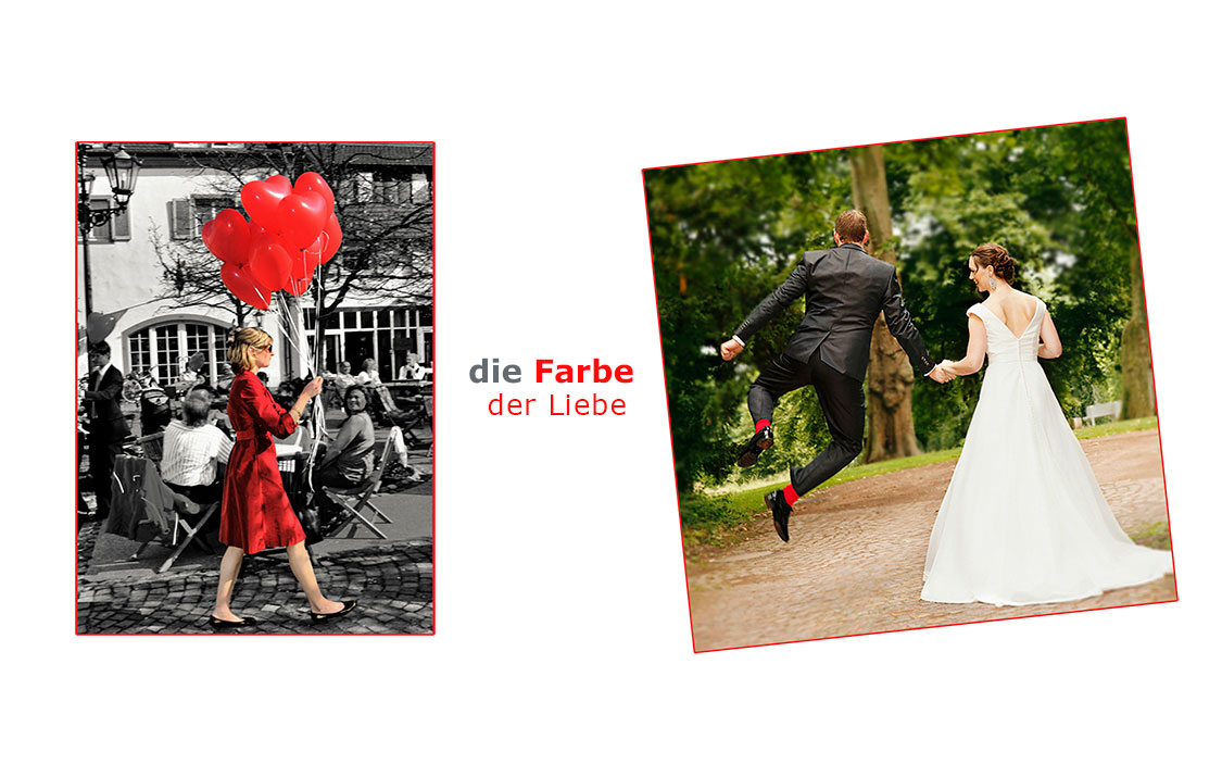 Fotograf-Bingen-Hochzeitsfotos, Farbe der Liebe