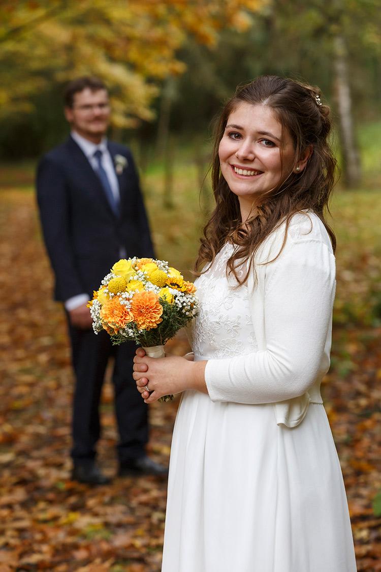 Hochzeitsbild Bingen im Herbst