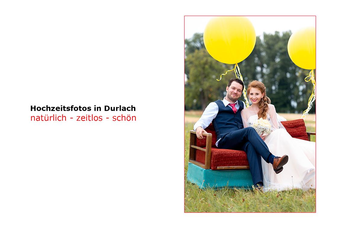 Professioneller Hochzeitsfotograf in Durlach