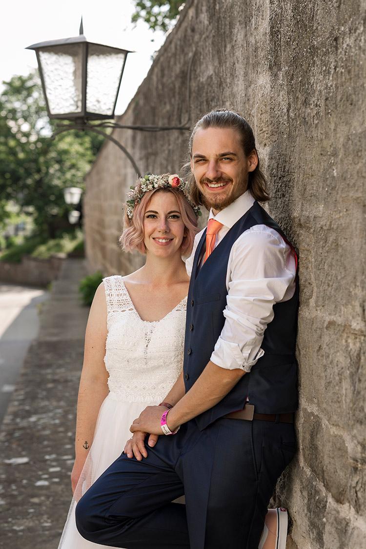 Zeitloses Hochzeitsbild Freiburg