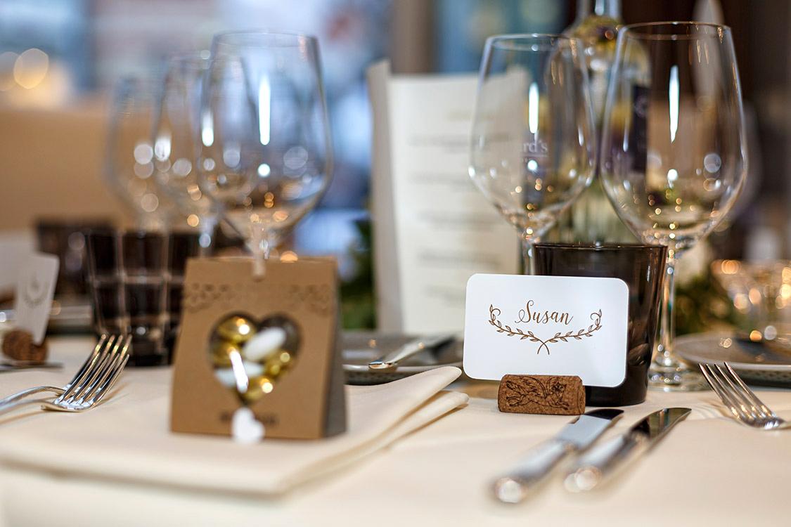 Ideen vonn Tischdekoration zur Hochzeitsfeier